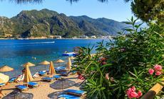 Marmaris. Wybrzeże Morza Egejskiego w Turcji