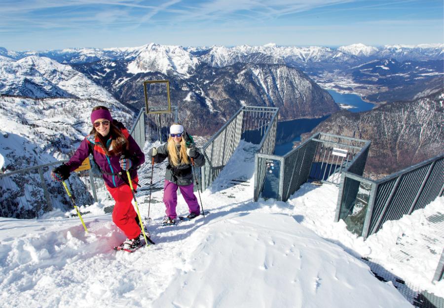 narty w Austrii - platforma widokowa 5 Fingers